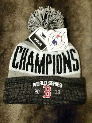 365e62185bb6e Boston RedSox Beanie Knit Hat Winter Genuine MLB 2018 World Series Champions