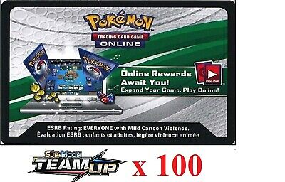 100 x Pokemon SM9 Team Up Code TCGO Cards TCG Codes SENT WITHIN 12 HOURS