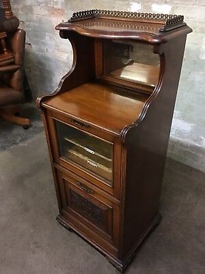 Antique Victorian Music Cabinet Walnut Display Sheet Music . Delivery Available