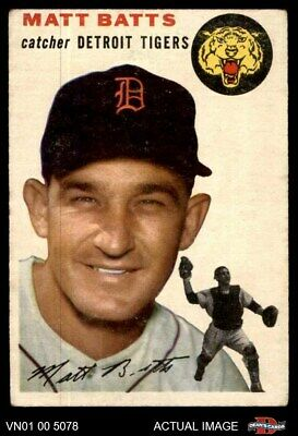 1954 Topps #88 Matt Batts Tigers GOOD