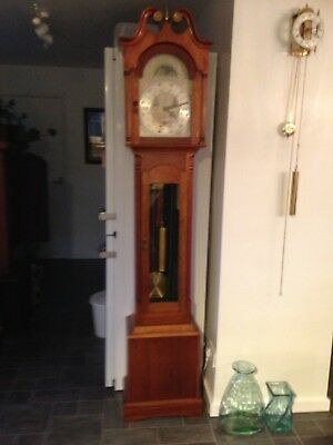 Triple Chime Day Date Month Weight Driven Grandfather Clock
