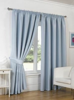 NEW Dreamscene Pencil Pleated Supersoft Thermal Blackout Fully Lined Curtains