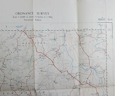1959 old vintage OS Ordnance Survey 1:25000 First Series map TL 61 Great Waltham