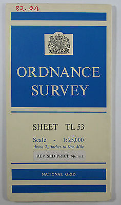 1956 old OS Ordnance Survey 1:25000 First Series map TL 53 Saffron Walden