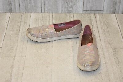c17dcad9 **Toms Classic Slip On - Big Girl's Size 5.5, Pink Multi Twill Glimmer