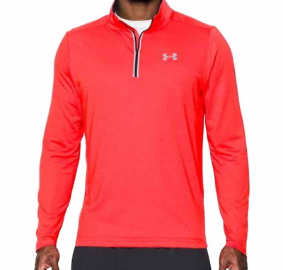 f388361a Under Armour Streaker ¼ Zip Men's Running Long Sleeve Shirt Red UK Size  Large