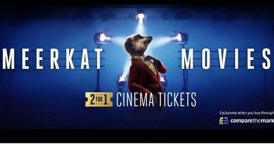 2 For 1 Meerkat Movie Cinema Code For Tuesday 5th or Wednesday 6th Feb 2019