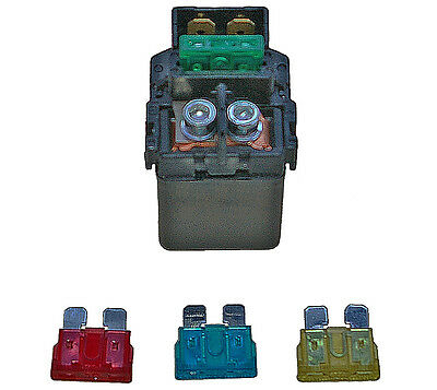 Honda ANF125 Innova starter relay, solenoid (2003-2009) with alternative fuses