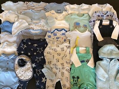*Lovely Collection/Bundle Of Baby Boys Newborn Clothing* 33 Items