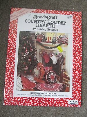 Braid Craft Country Holiday by Shirley Botsford Ornaments-Stockings-Tree Skirt