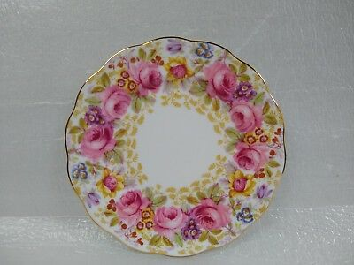 "ROYAL ALBERT ""SERENA"" 6 3/8"" Bread and Butter Plate  gold Guild Reg.No.839329"
