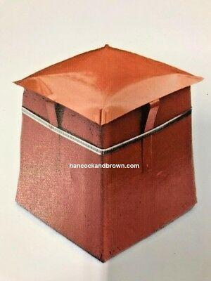 """Small Square Chimney Pot  Capping Cowl Terracotta Fits 6-8"""" Pots"""