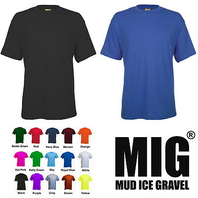 Mens Short Sleeve T Shirt By MIG for WORK CASUAL SPORTS LEISURE SHIRTS - MIG 301