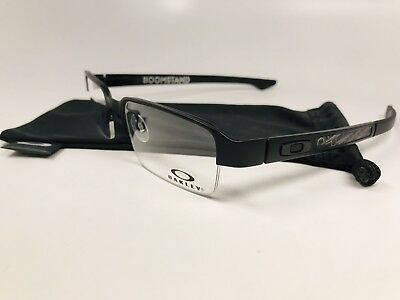c8a94254a60 New Oakley OX5042-0152 TITANIUM Matte Black BOOMSTAND Eyeglass 52mm with Bag