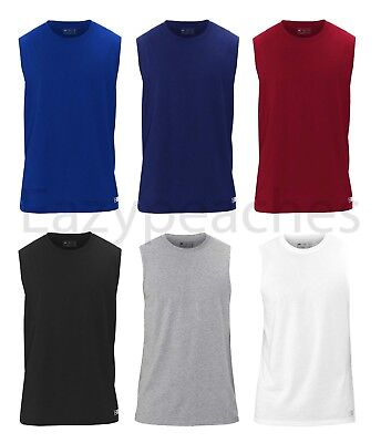 Russell Athletic -Men's Essential Blend Muscle Tee, Sports T-Shirt, S-3XL UPF 30