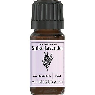 Spike Lavender Essential Oil Pure - 10ml, 20ml, 30ml, 50ml, 100ml, 200ml Nikura