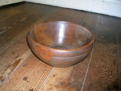 Antique 19th century treen dairy bowl.