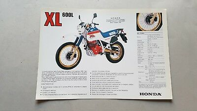Honda XL 600 L (LM) 1983 depliant originale italiano genuine brochure