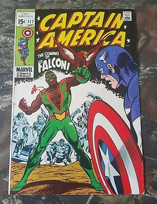 Captain America #117 1st First Appearance Of Falcon Key Issue Great Color CS