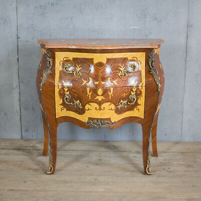 Beautiful Antique French Chest Of Drawers, Marble Top, Vintage