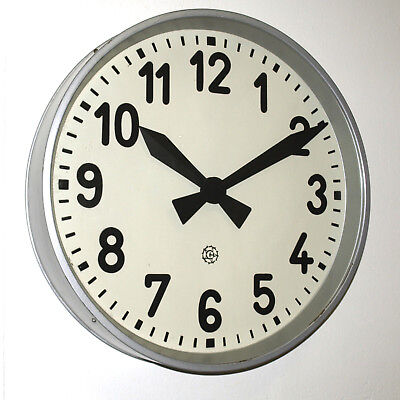 XXL metal wall clock CHRONOTECHNA - industrial vintage Factory Railway School
