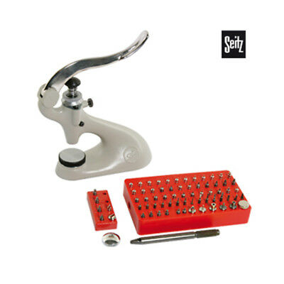 Seitz Bushing Machine Jewel Press with Lever and Micrometer Screw Watch Tools