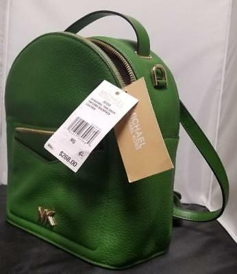 fda136452e41 Michael Kors Jessa Small Convertible Backpack Green Leather Authentic