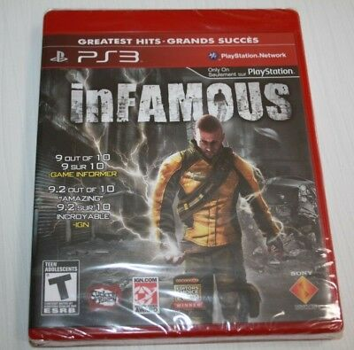 Infamous 1 Sony Playstation 3 PS3 Brand new sealed Not for resale