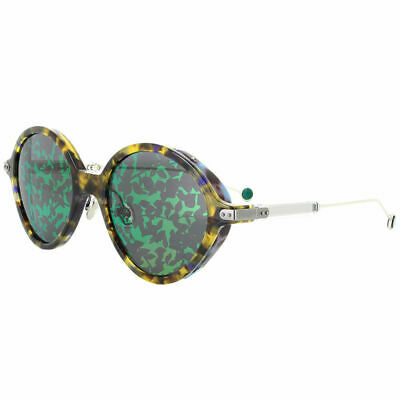 78a93a8803984 Christian Dior Umbrage 0X8 TW Blonde Havana Oval Sunglasses Green Mirror  Lens