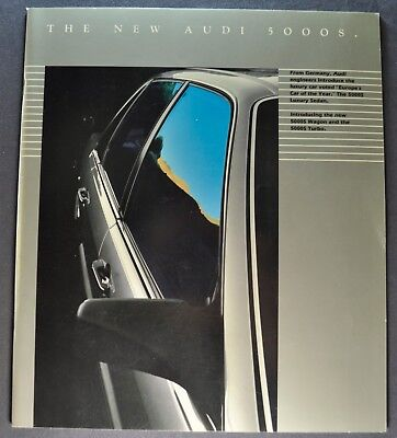 1984 Audi 5000S 28pg Catalog Sales Brochure Turbo Excellent Original 84