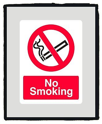 No Smoking Safety Sign sticker - Various Sizes
