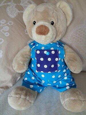Clothes fit girls Build a bear teddy dungarees playsuit 30cm sitting 40 cm lgth