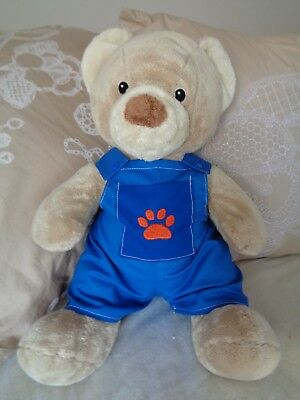Clothes fit boys Build a bear teddy dungarees playsuit 30cm sitting 40 cm lgth