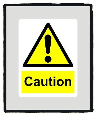 Caution Warning Yellow Safety Sign Warning sticker - Various Sizes