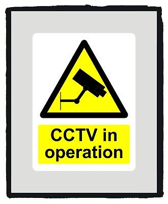 CCTV in Operation Warning Yellow Safety Sign Warning sticker - Various Sizes