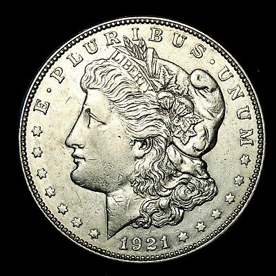 1921 D ~**ABOUT UNCIRCULATED AU**~ Silver Morgan Dollar Rare US Old Coin! #484
