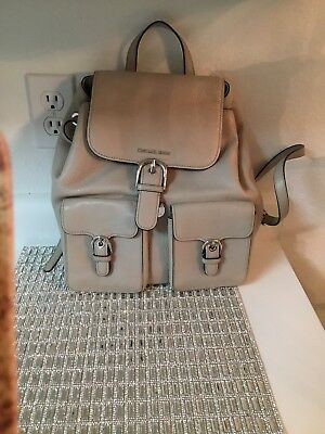 Michael Michael Kors Cooper Flap Large Chalk Leather Backpack NWT Free Shipping