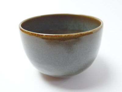 Japanese antique vintage green glaze pottery Chawan tea ceremony bowl chacha