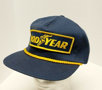 Vintage Goodyear Racing Patch Rope Braid Snapback Hat Cap Swingster Made in  USA fe857a058407