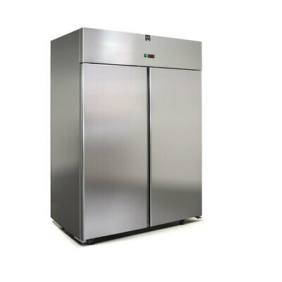 New Italian Made Upright Commercial Two Door Stainless Steel Fridge 1400L 304SS