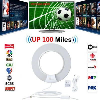 1Byone Indoor HD TV Antenna with Digital Amplified 100 Miles Low Noise Freeview