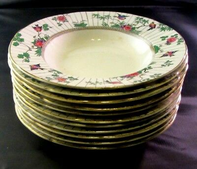 "Lot Of 11 Salad/soup/dessert Bowls--Booths England ""spring""--7""--Silicon China"