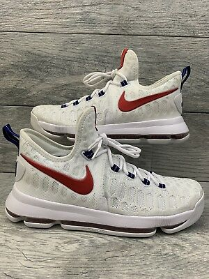"""8b5b8738198 NIKE ZOOM KD 9 """"USA"""" Independence Day Mens Size 9.5 White 843392-160 ..."""