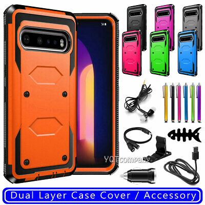 For LG G7 ThinQ Phone Case Shockproof Hybrid Rugged Cover With Screen Protector
