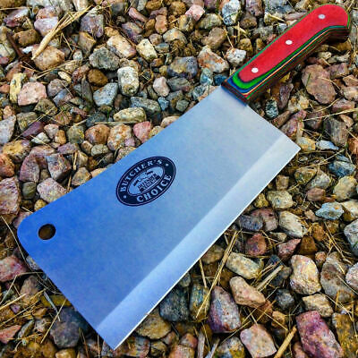 """10.5"""" MEAT CLEAVER CHEF BUTCHER KNIFE Stainless Steel Chopper Full Tang Kitchen"""