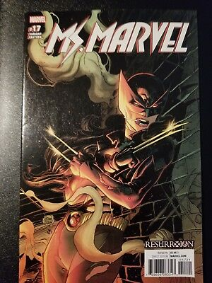 Ms Marvel 17 Vol 4 Adam Kubert Resurrxion X-23 Wolverine Variant Nm Vhtf
