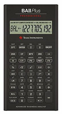 Stationery Texas Instruments BA-II Plus Pro Financial Calculator Professional SB