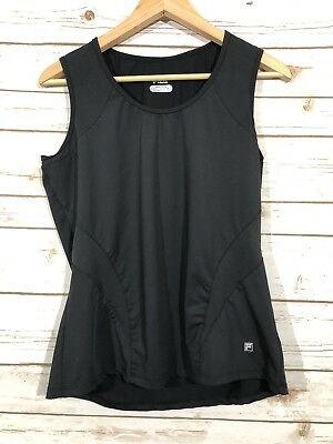 1c8f5259a78b2 Fila Sports Woman's Black Scoop Neck Sleeveless Athletics Exercise Workout  Top L