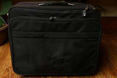 Briggs & Riley Rolling Suitcase BR260-4 Black Travel Luggage Laptop Sleeve