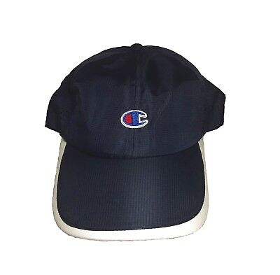 3d4f93e7f3d CHAMPION Embroidered Logo Dad Hat Nylon Unstructured Navy Blue Cap